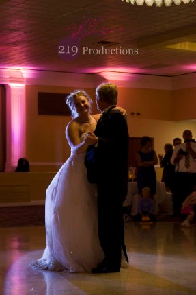 Hellenic Cultural Center Wedding Uplighting Father Daughter Dance