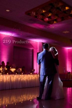 Villa Cesare Pink Uplighting Father Daughter Dance Wedding