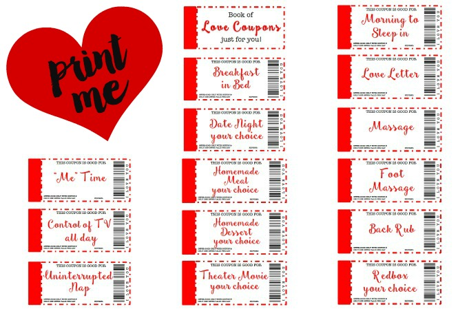 Free Printable Love Coupons The Perfect Gift 21 Flavors Of Splendor