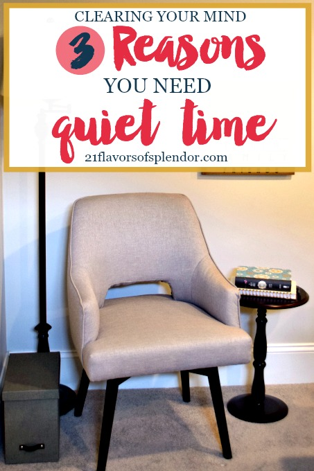We often need to tidy our minds of clutter as much, if not more, than our homes. There are three very important reasons why we all need quiet time. Click..
