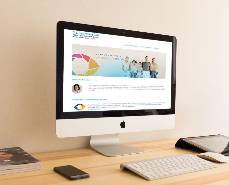 Home web responsive de la Doctora Sara Velilla