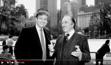 川普(左)和他的父亲(右)(youtube视频截图)