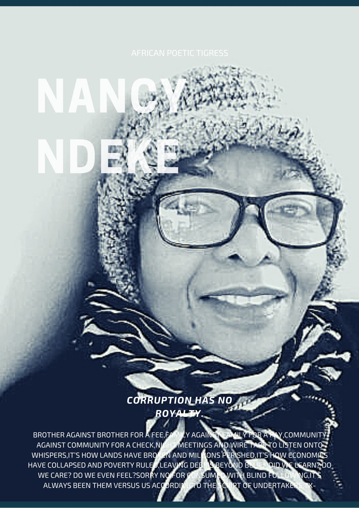 A reading of Nancy Ndeke's Poem 'Corruption Has No Royalty'