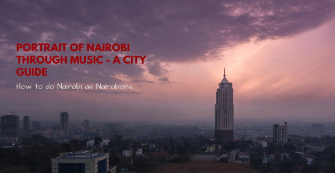 poster with image of Nairobi city cityscape view from Upperhill business district