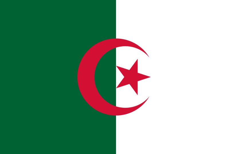 Flag of Algeria a Africa Cup of Nation 2019 finalist