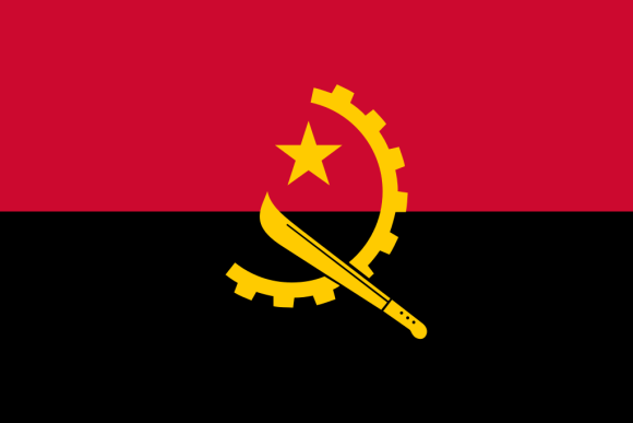 Flag of Angola a Africa Cup of Nation 2019 finalist