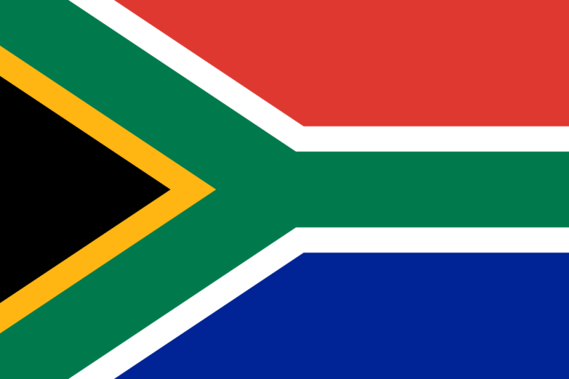 Flag of South Africa a Africa Cup of Nation 2019 finalist