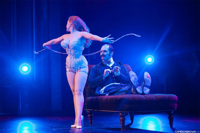 Catherine D'Lish and Russell Bruner at the Vancouver International Burlesque Festival. ©Cameron Brown