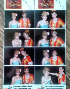 Peggy de Lune and Red Hot Annie's photo booth shots.  (Texas Burlesque Festival 2013)