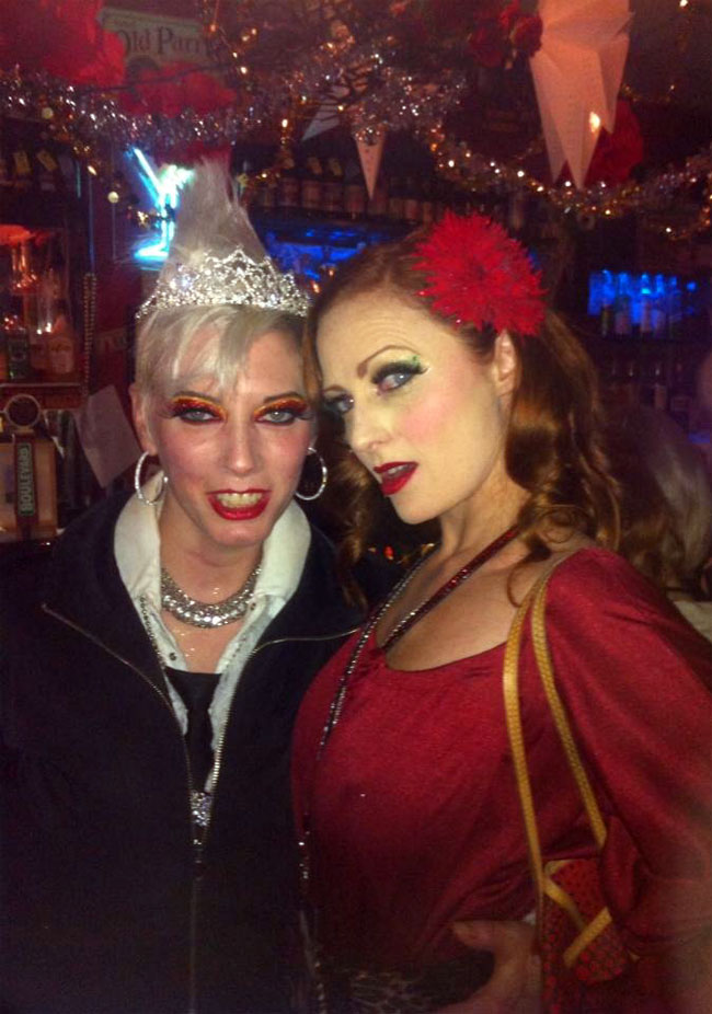 At the after party with Iva Handfull.  ©Strawberry Siren  (Kansas City Burlesque Festival 2013)
