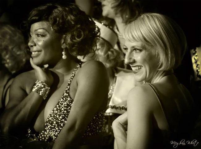 Perle Noire and Lola Van Ella at the Show Me Burlesque Festival 2013.  ©Meghan White