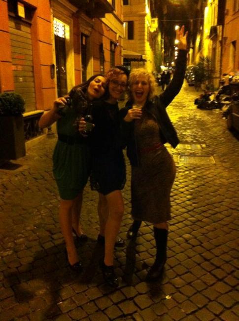 Albadoro, Dixie and I (Minnie Tonka) drinking Prosecco in Ancient Rome!  ©Minnie Tonka
