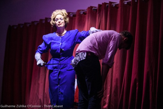Honey Wilde and her Margaret Thatcher act received derogatory remarks from comedian Nadia Kamil. (Guilherme Zühlke O'Connor for This Is Cabaret)