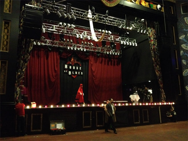Preparing for show time at the House of Blues.  ©Midnite Martini