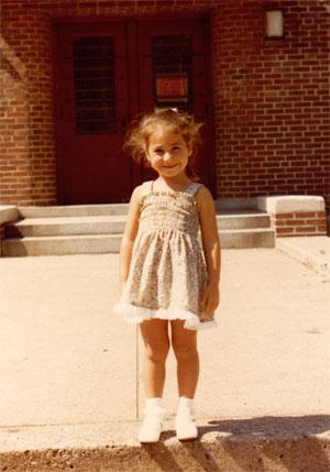Little Angie at kindergarten.  ©Angie Pontani