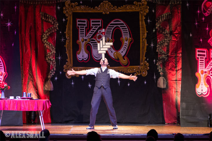 Mat Ricardo at the Kinky & Quirky Burlesque Ball on July 5th 2014, Devon, UK.  ©Alex Small