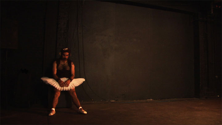Highs and Lows: Evil Hate Monkey in documentary Us, Naked: Trixie and Monkey.  ©Kirsten Hollander