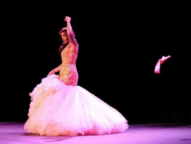 Sydni Deveraux at the Colorado Burlesque Festival 2014. ©Trout Imagery
