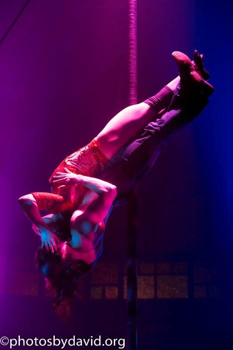 Sasha Flexy and Hauk Pattison in Cabaret Boheme, Brighton Fringe 2015.  ©David Smith