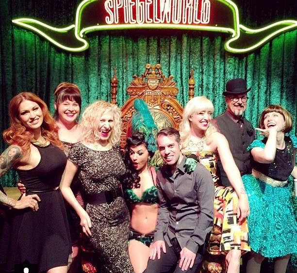 Arrived on Wednesday just in time to see our friend Melody Sweets at Absinthe! (L to R: LouLou D'vil, Anita Cookie, me, Melody Sweets, David Bishop, Peekaboo Pointe, Armitage Shanks)  ©Minnie Tonka