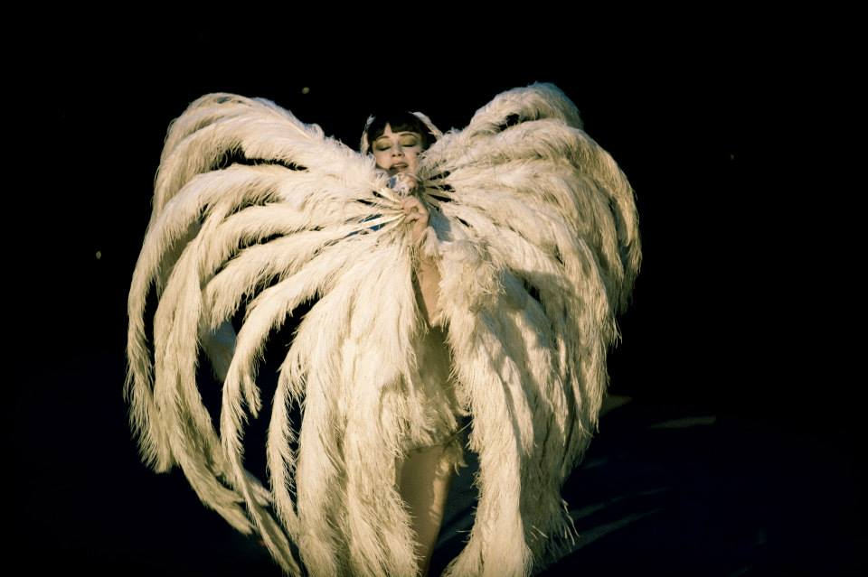 Vicky Butterfly at the Hebden Bridge Burlesque Festival 2015, by James Millar