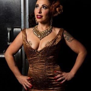 Angie Pontani, star of the Burlesque Showcase at the Viva Las Vegas Rockabilly Weekend. Photo by Steve Prue.