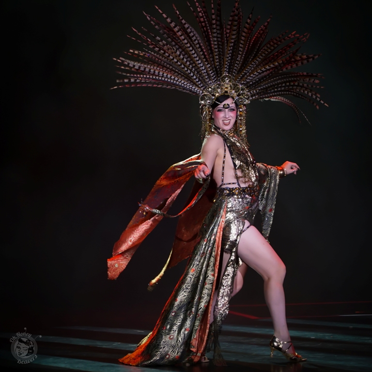 Musette the Mistress of Mischief, awarded Best Debut at the Burlesque Hall of Fame Weekend 2017. Image by Honey Beavers, exclusively for 21st Century Burlesque Magazine