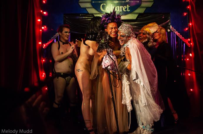 The crowning at the Crescent City Burlesque Weekender, by Melody Mudd.