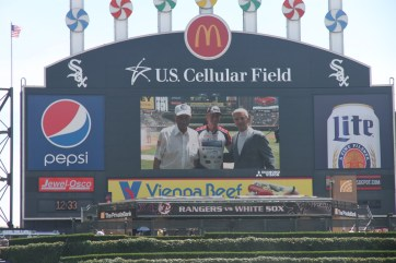 With Wilk and Tom at US Cellular Field.