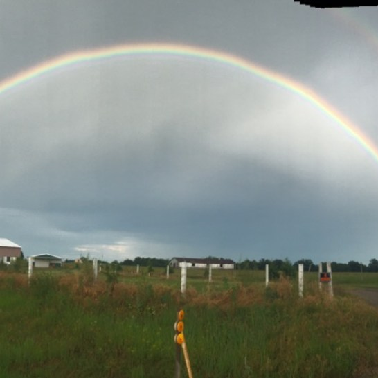 Another dividend after riding through the rain, a double full rainbow.
