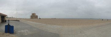 Panoramic view from bike path on the beach
