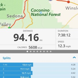 110 mile day cut short by lightning