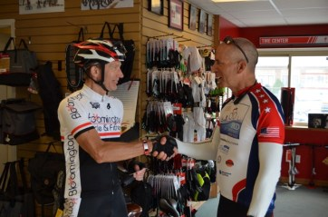 Brandon Reid, a real endurance cyclist and me, a poser :-)