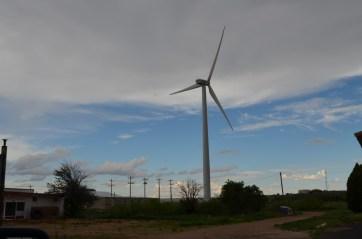 Just a single wind turbine.