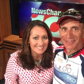 With AM anchor Angie Winn after the in studio interview.