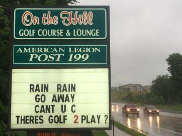 Bikers do it in the rain.