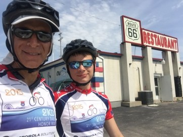 With Patrick who road well over 100 miles today. Way to go Patrick!!!!