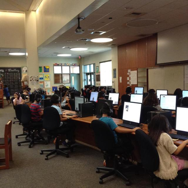 Students do testing in the MPR where there minds arehellip