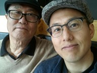 pops and me with hats