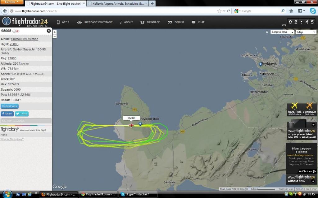 Moscow to Reykjavík_chartered flight