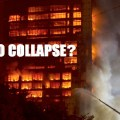 Fire Engulfs Chinese High-Rise But No Collapse (Like Building 7)