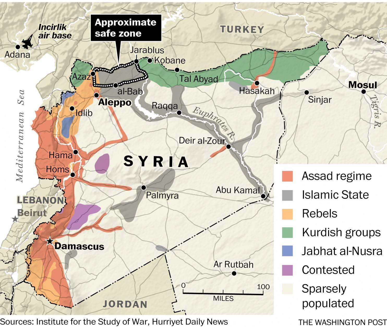 Image result for syrian safe zones