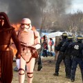 France Reenacts Opening Scene of 'Force Awakens' as Storm Troopers Destroy Refugee Camp