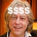 POVERTY PIMP: Sir Bob Geldof wants $100,000 for 'anti-poverty' speech