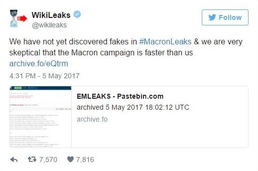 Wikileaks Macron leaks real