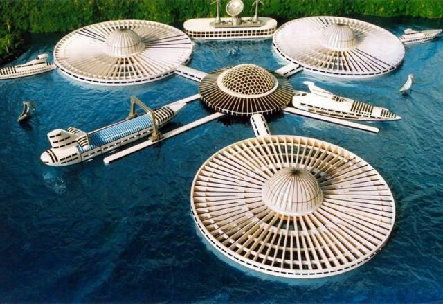 Sny architektů o budování umělých ostrovů a měst uprostřed rozlehlých oceánů začínají nabývat své reálné podoby. V USA, Kanadě, Japonsku, Číně i v řadě evropských zemí už se připravují konkrétní investoři k realizaci obrovských staveb, které by měly pojmout statisíce obyvatel a být jakýmsi předobrazem budoucí urbanistiky.