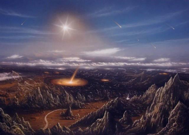 Andrew Glikson z Australian National University nalezl na území západní Austrálie v zemi u Hamersley Basin 20 cm tlustou vrstvu, která má být stopou po dopadu gigantického tělesa před 2,5 miliardy let.