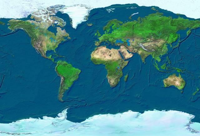 Satelitní snímek pořízený družicí IKONOS 27. prosince 2003, jen jeden den po katastrofálním zemětřesení o síle 6,7 stupně Richterovy škály, které srovnalo se zemí íránské historické město Bam.