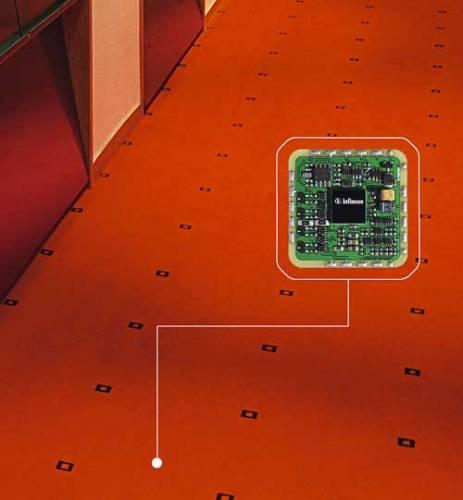 Německým firmám se podařilo vetkat do struktury koberce síť senzorů, které dokáží sledovat naše kroky a dohlížet nad technickým chodem interiéru.