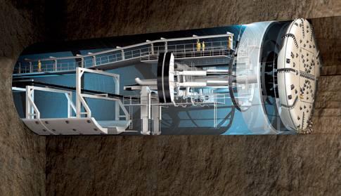 Američané budou hloubit tunely vrtákem o průměru 14 m.